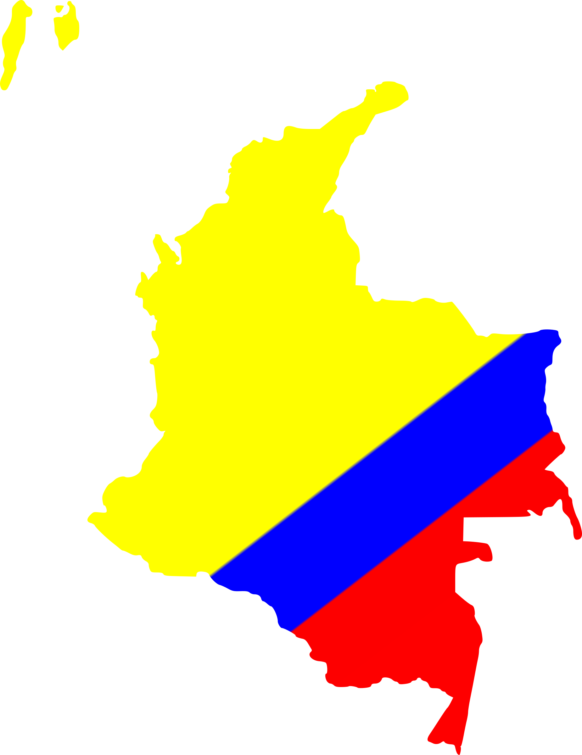Colombia map png. Of icons free and