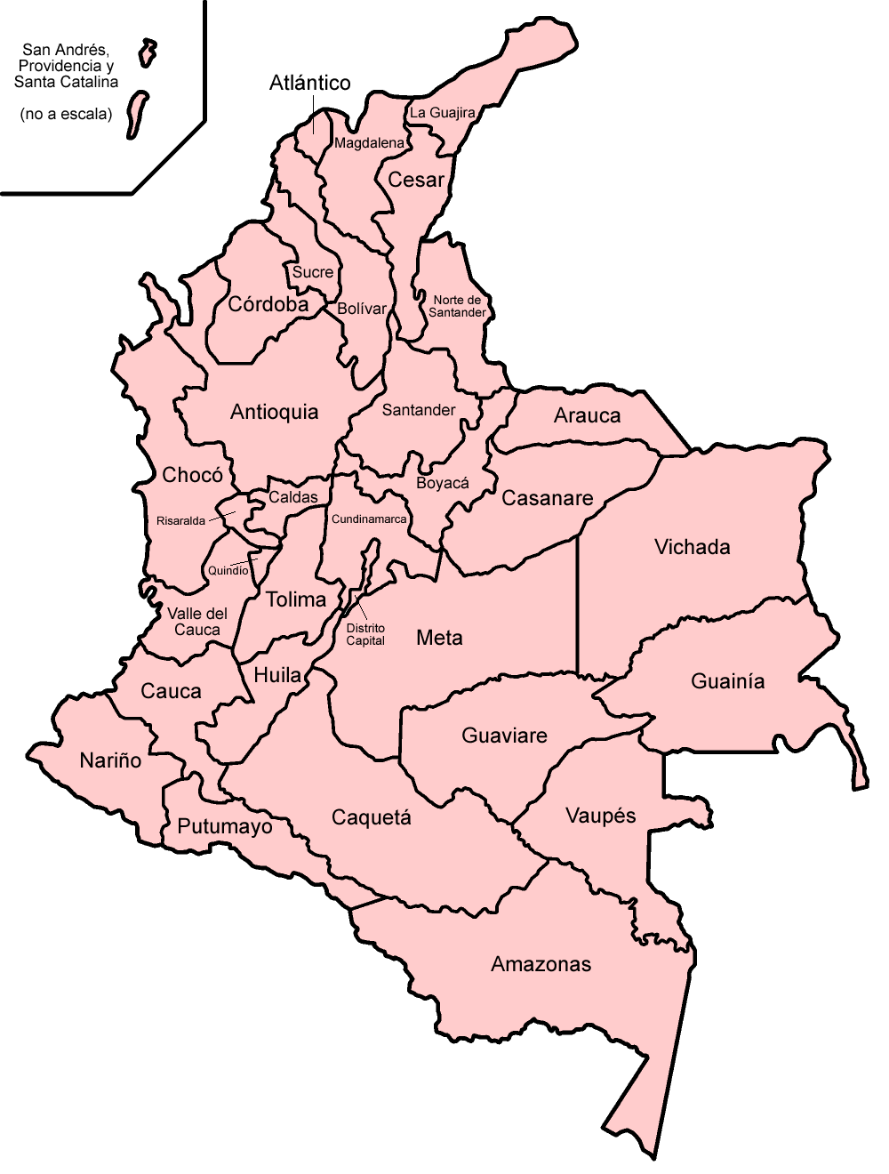Colombia map png. File departments spanish wikimedia