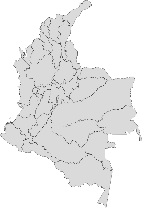 Colombia map png. Vector maps of free