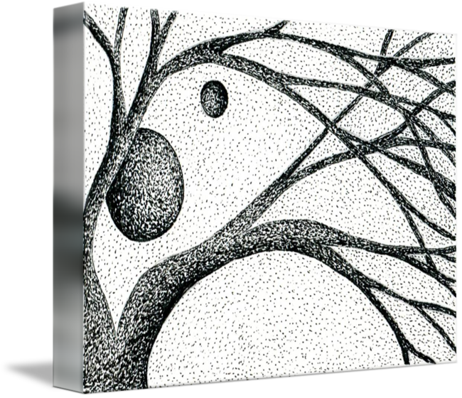 Drawing it pen and ink. Collection of free branch