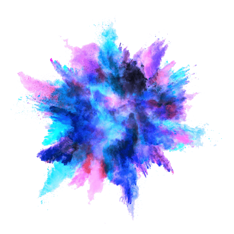 Color blast png. Blue powder explosion free