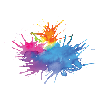 Vector splatters mud. Multi colored png images