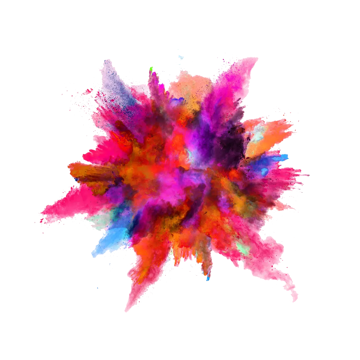 Paint explosion png. Color powder image purepng