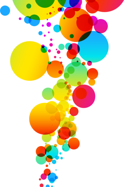 Color bubbles png. Abstract psd official psds