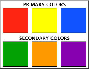 Color clipart. Clip art chart primary
