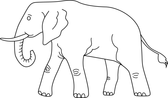 Color clipart elephant. Coloring page free clip