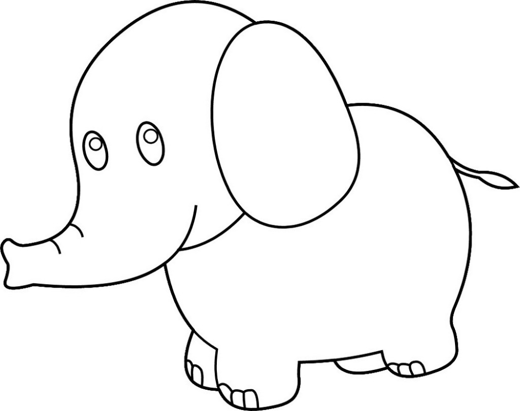 Color clipart elephant. Baby cartoon drawing at