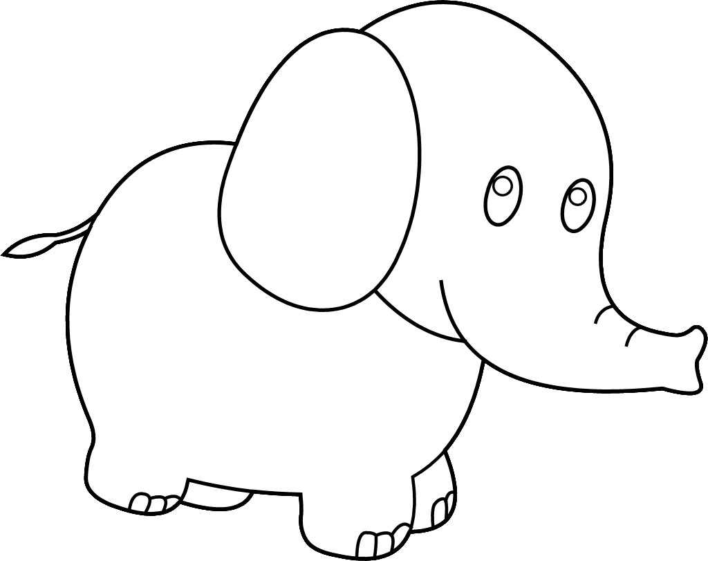 Color clipart elephant. Drawing cute at getdrawings