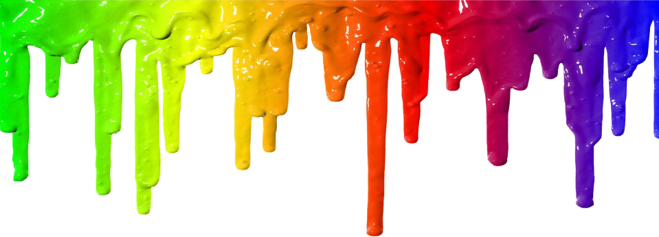 Paint drips png. Interesting art rainbow drops