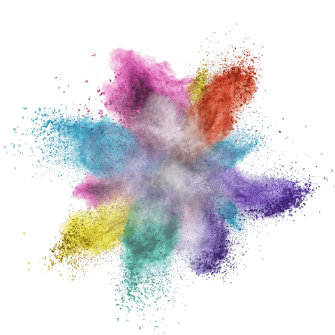 Color dust explosion png. Colorful powder free images
