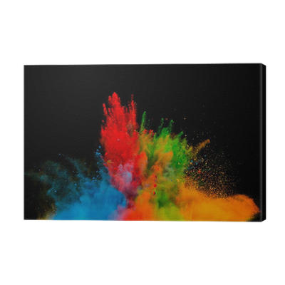 Color dust explosion png. Colored on black background