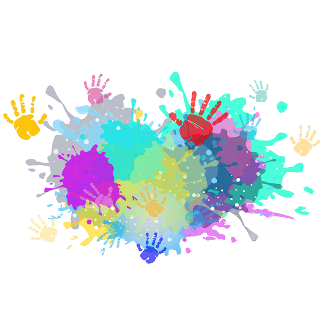 Vector splashes creative. Holi festival colorful colors