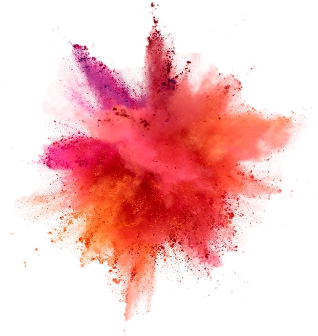 Dust photography drawing powder. Color explosion png clip stock