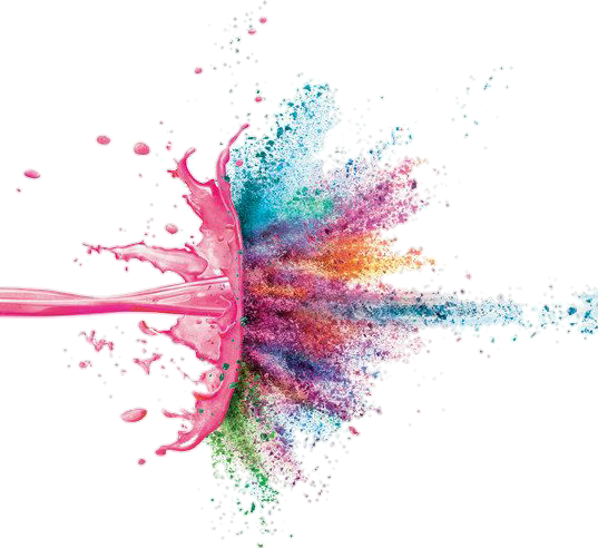 Color explosion png. Colors acrilico sticker by