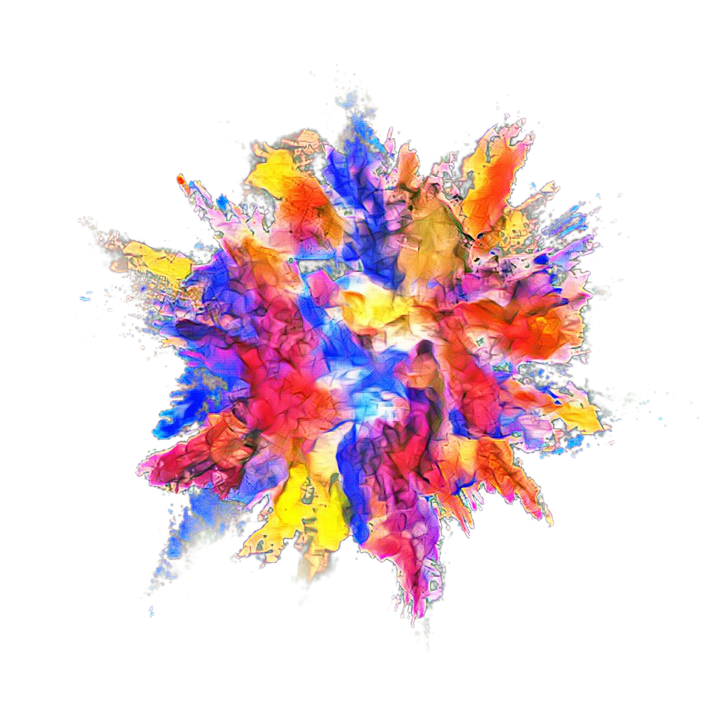 Powder dust splash effect. Color explosion png clip art royalty free stock