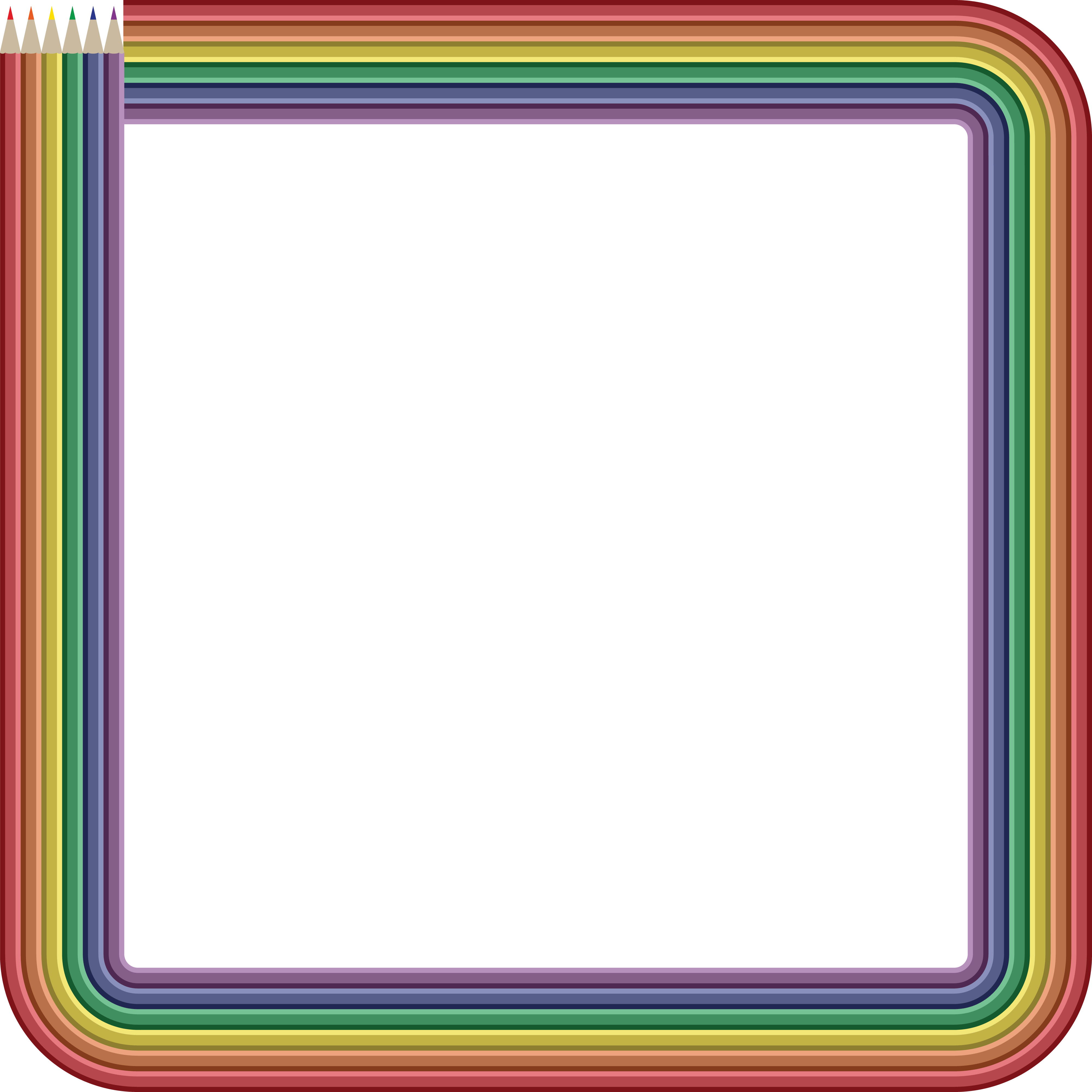 Color frame png. Colored pencil clipart at