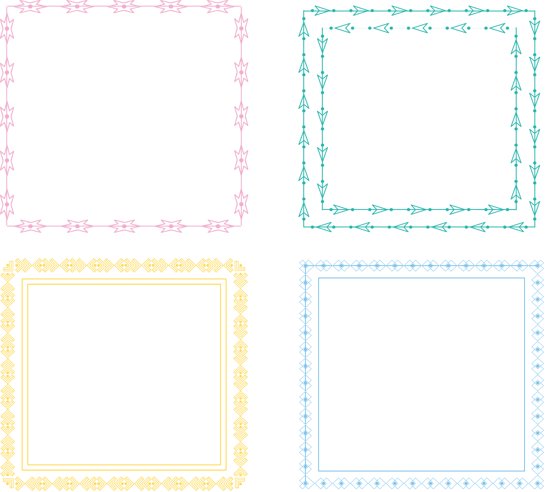 Color frame png. Area square inc pattern