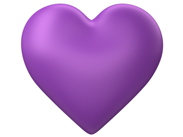 Lavender heart png. D purple love