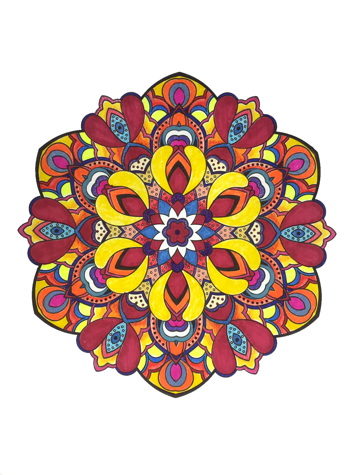 Colorful mandala png. Amazon com wonders color