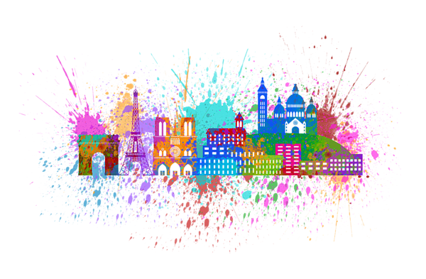 Color paint splatter png. Paris skyline illustration iphone