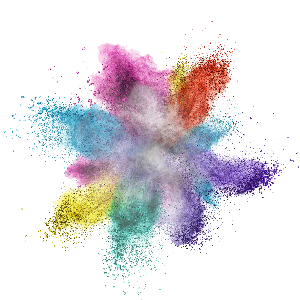 Paint explosion png. Colorful powder image purepng