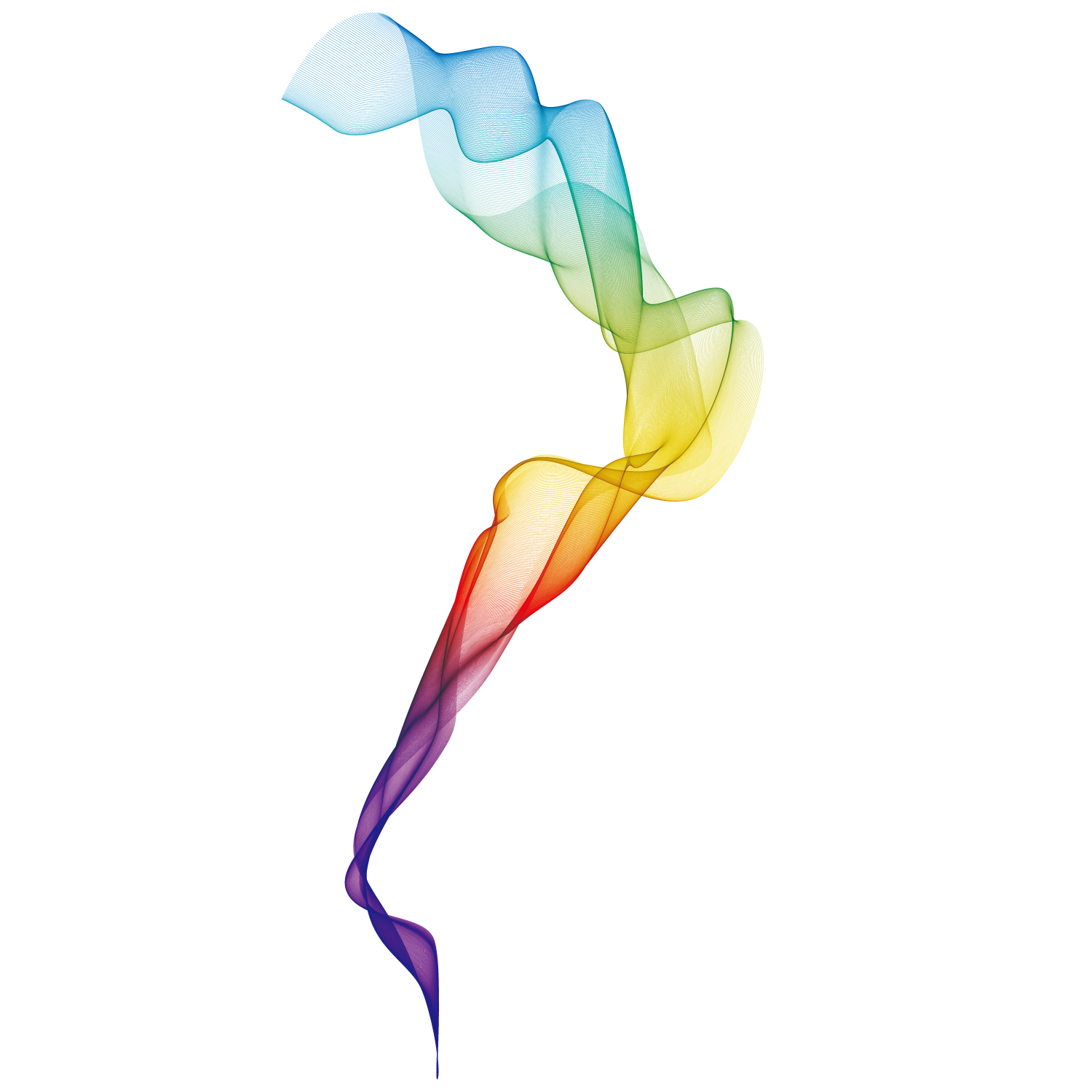 Colorful vector smoke. Euclidean line background transprent