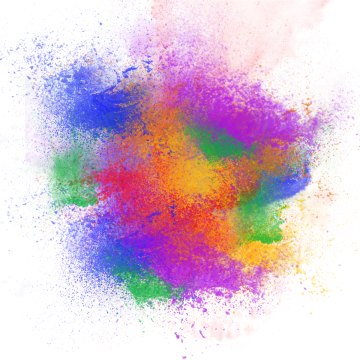 color dust explosion png