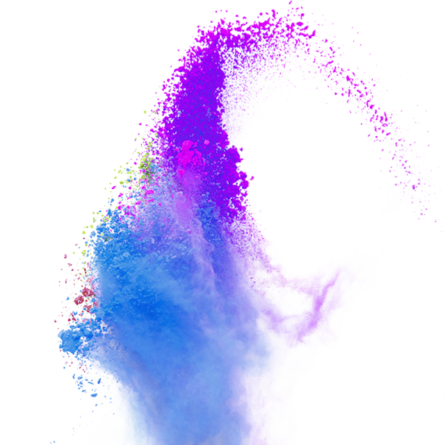 Color splash background png. Powder smoke vector blue