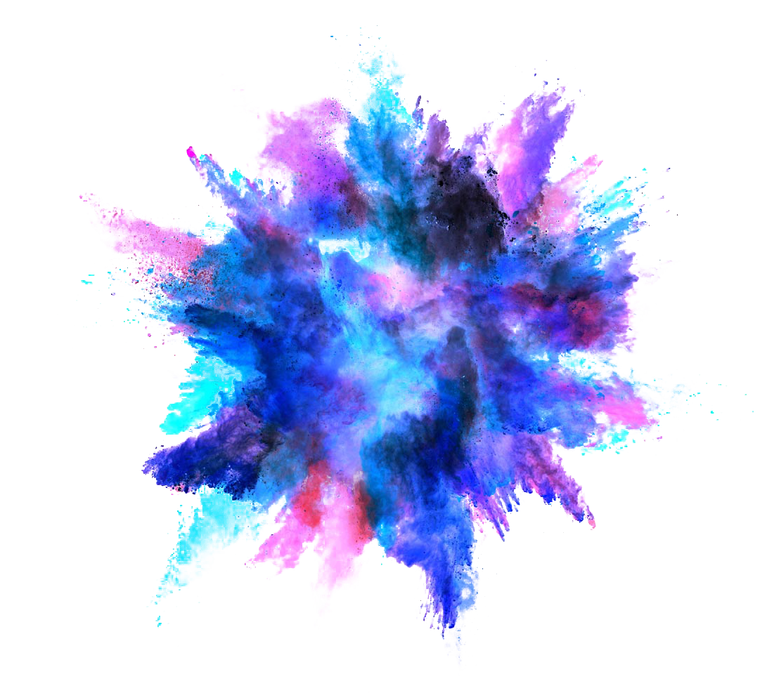 Explosion clipart paint. Color powder dust splash
