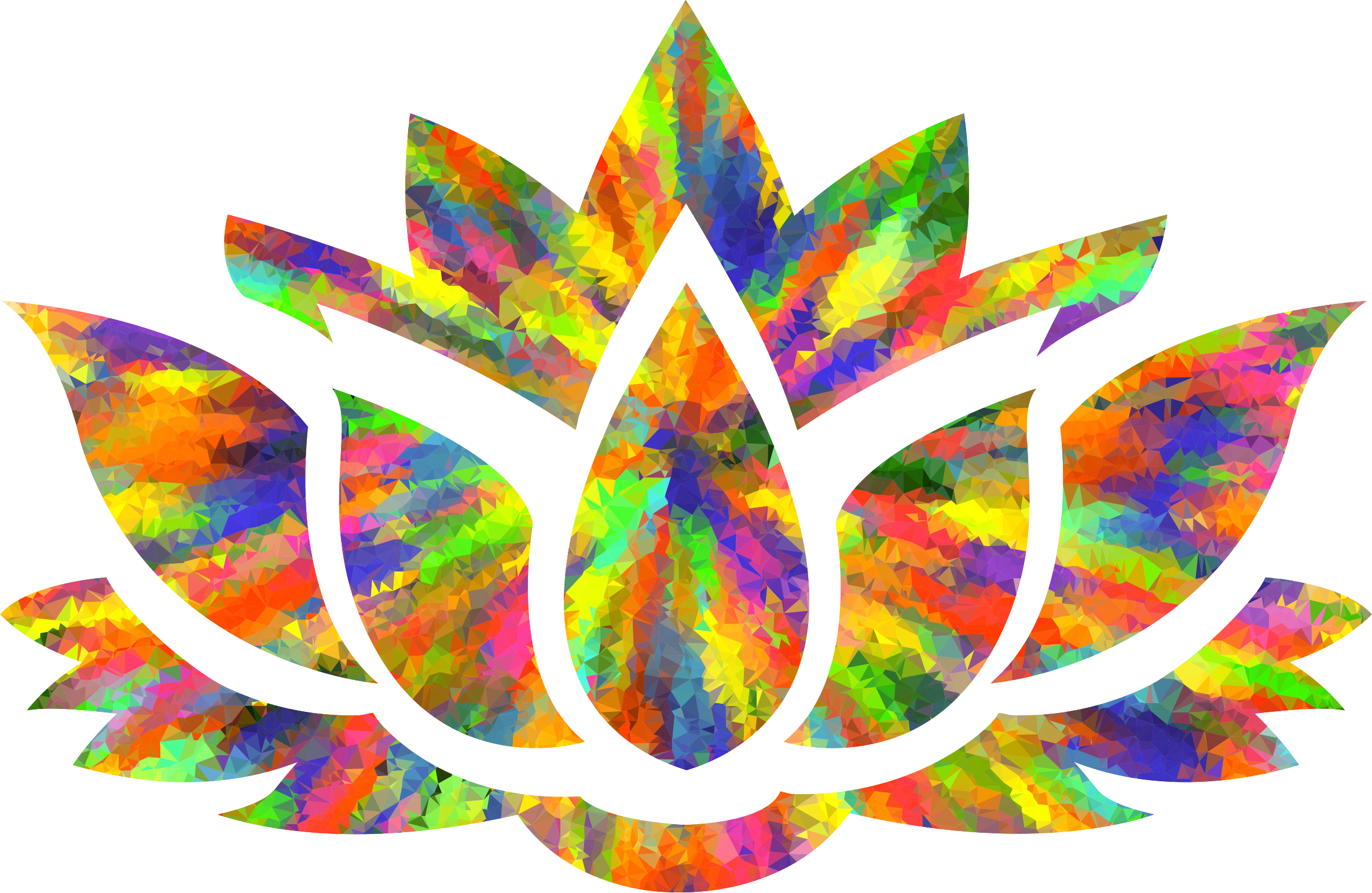 Color splash vector png. Low poly of lotus