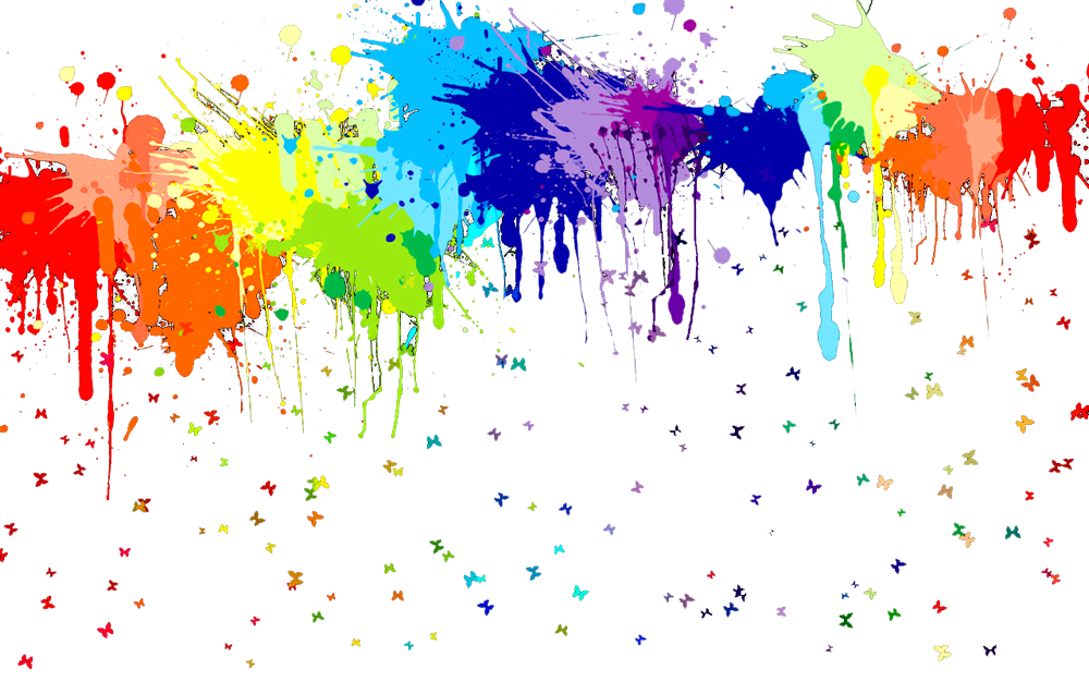 Colorful paint drip png. Rainbow pinterest painting