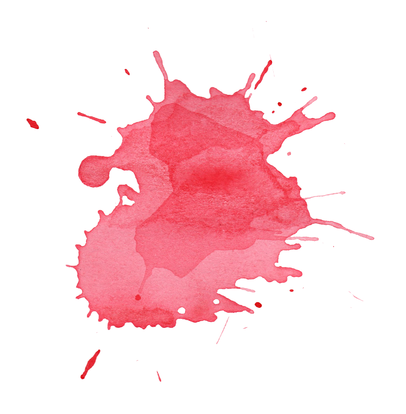 Color splatter png. Red watercolor transparent