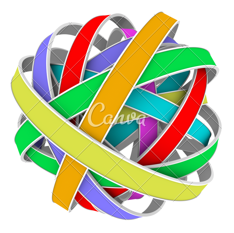 Color strips png. Ball sphere messy bundle