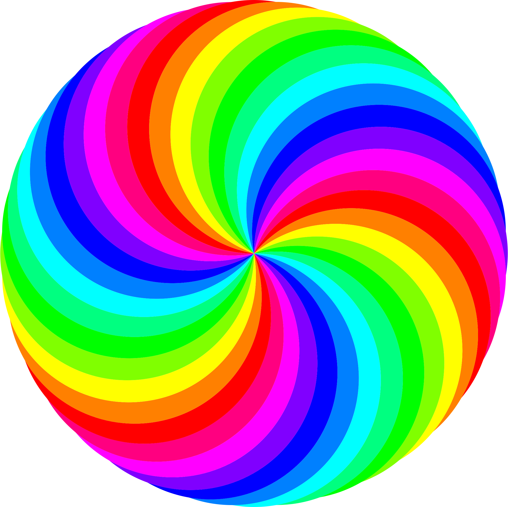 Transparent spiral colorful. Circle swirl color