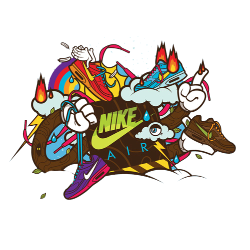 Color swoosh png. Nike illustrator illustration motorcycle