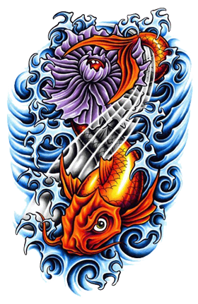 Color tattoo png. Fish tattoos transparent images