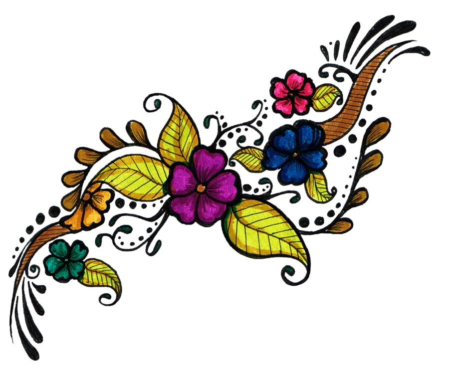 Floral tattoos png. Flower tattoo design clipart