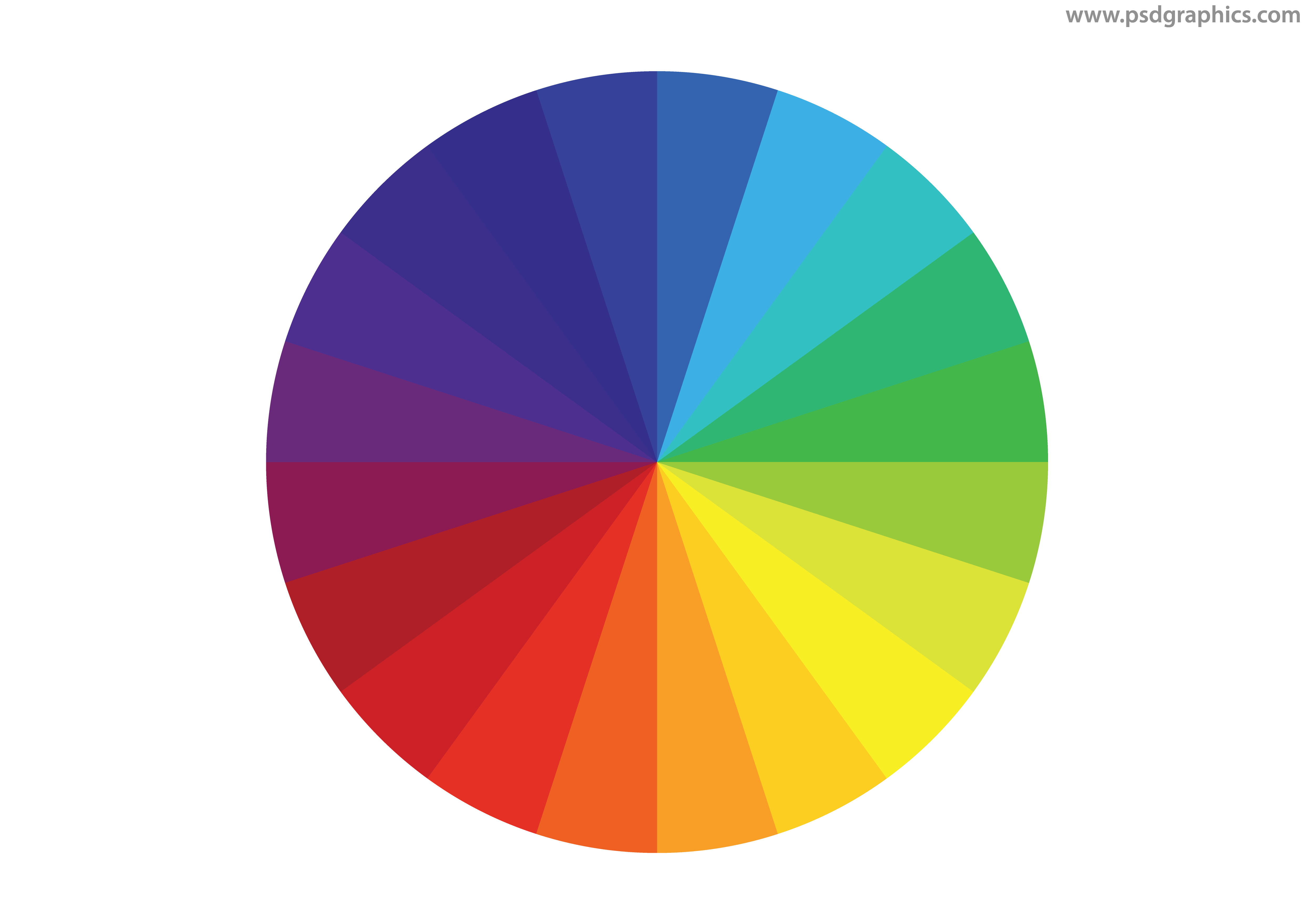 Color wheel png. Vector psdgraphics