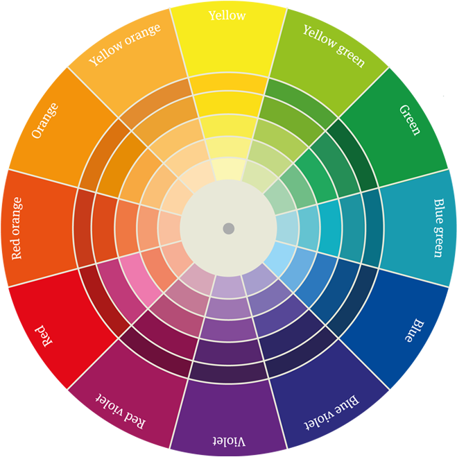 Color wheel png. Colour mosaic how to
