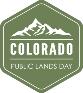 Colorado drawing sign. Co public lands day