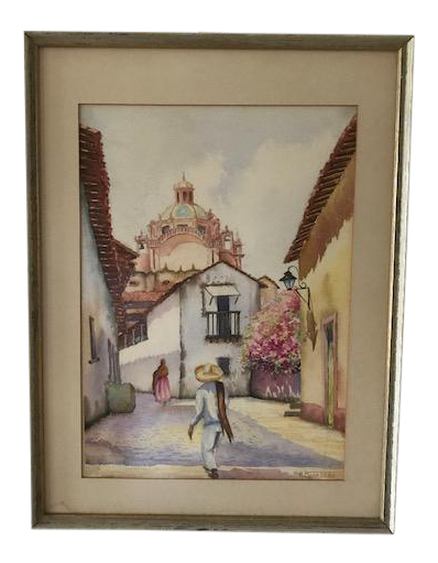 Colorado drawing watercolor. M figueroa latin america