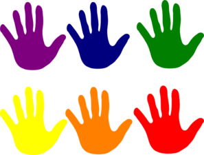 Hands various clip at. Vector colors art clip art