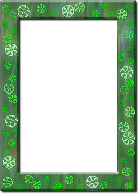 Frame clip collage. Picture frames green color