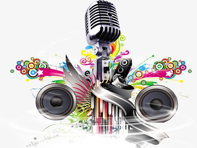 Colored clipart microphone. Speaker color music png
