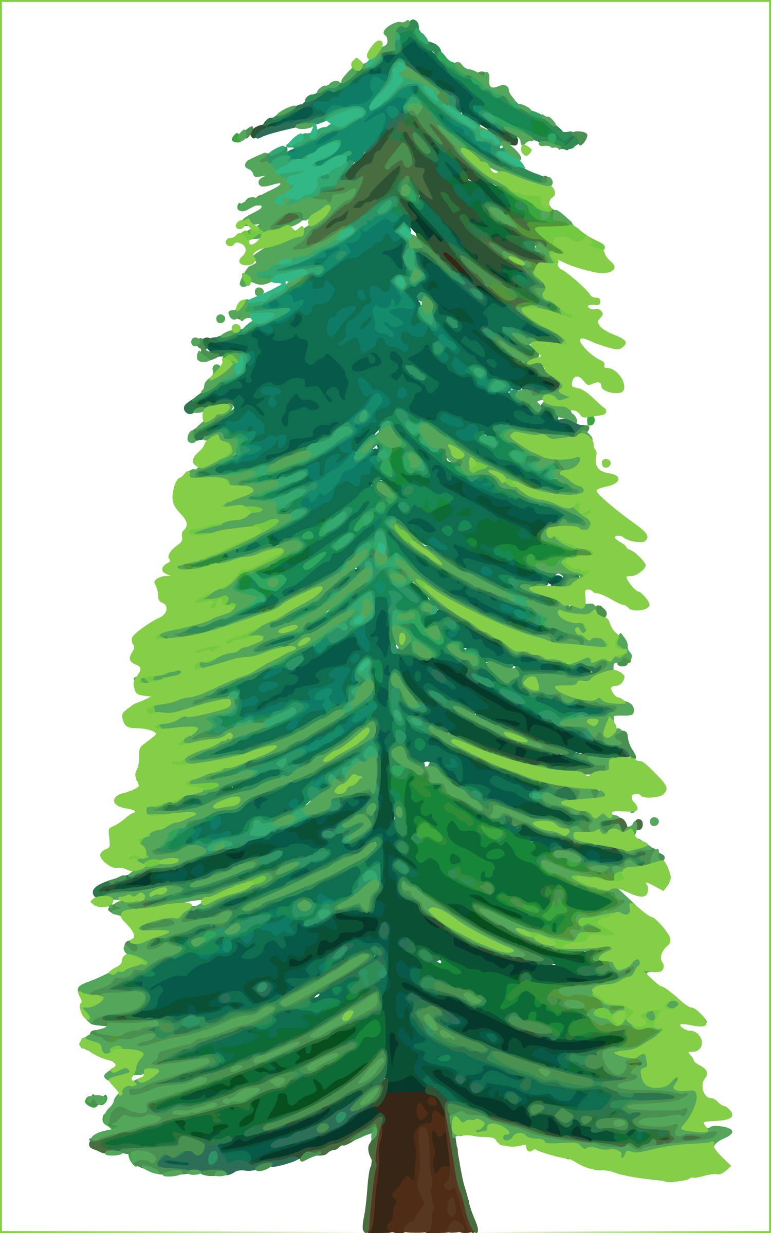 Colored clipart transparent background. Christmas tree color big