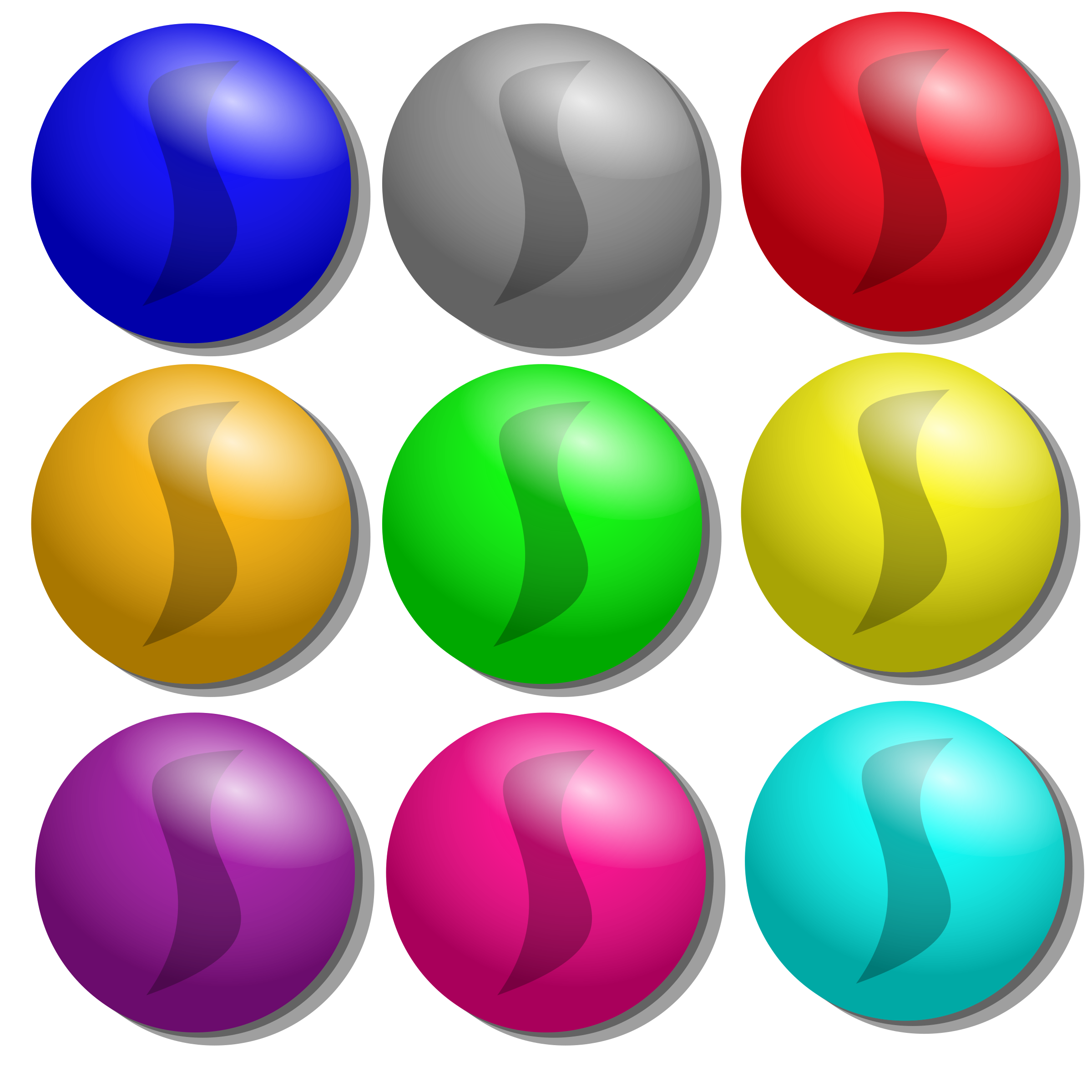 Colored dots png. Game marbles icons free