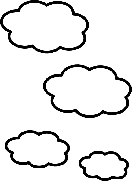Stock drawing cloud. Collection of free clouds