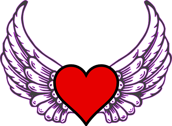 Colored drawing heart. Wings at getdrawings com
