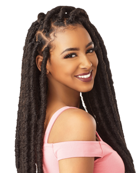 Long clip locs. Sensationnel these lightweight chunky