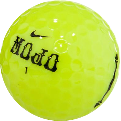 Colored golf ball png. Nike mojo lucky yellow
